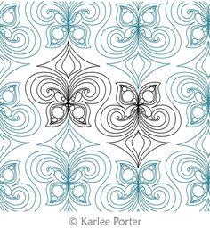 Digital Quilting Design Monarch Tiles by Karlee Porter.