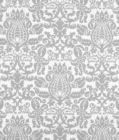 Premier Prints Amsterdam Storm Twill Fabric -- perfect neutral damask print for a nursery