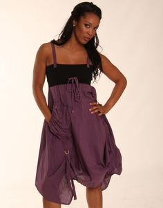 £ 12.00 PURPLE SLEEVELESS UNEVEN HEM CONTRAST DRESS from www.chiarafashion.co.uk
