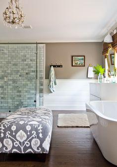 Bathroom via Milk and Honey Home