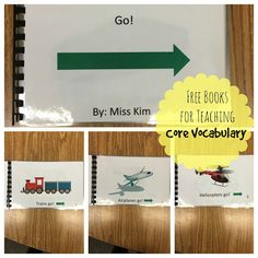 Free books for teaching core vocabulary in special education