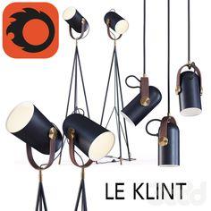High floor lamp and Pendant lamp By Le Klint