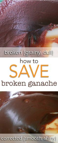 How to Save a Broken Ganache. Don't waste all of that expensive ganache, we can save it in a couple easy steps! Let me show you how. via /karascakes/