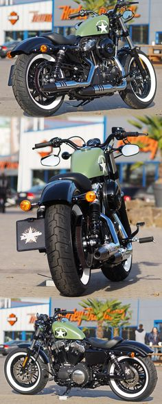 Green Harley-Davidson Sportster Forty-Eight XL1200X