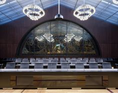 Delegates Room. Swiss Parliament Building, Bern, Switzerland. (Electro-acoustic Design by WSDG)