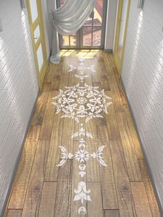 Use our Geometric Reusable Mandala-Style stencil to paint your floor. It will add elegance and uniqueness to your home. This stencil can be used to decorate more than just your floor: it works beautif