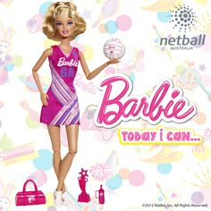 The world's most iconic doll, Barbie, has announced her latest career as a Netball star.  Netball Australia, in partnership with Mattel, is proud to unveil the Barbie Netball Star doll as the newest member of the netball team, making her debut on Monday when she hits shelves across the country. I NEED ONES OF THESE!