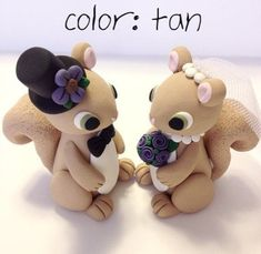 Squirrel Wedding Cake Topper  by topofthecake -- a perfect topper for a squirrel's wedding!