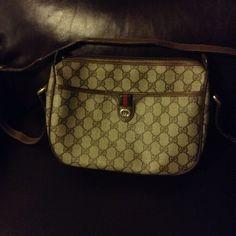 b89c8b39fbd Brown vintage 80 s Gucci monogram cross body bag. Vintage 80 s cross body  bag  purse