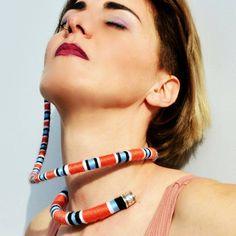 Snake inspired multiwearable neck ring