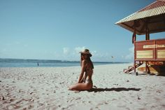 Beached in Bali with our gal, Jess Megan