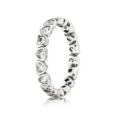 783b311a7 PANDORA Sparkling Heart Stacking Ring | Special price: £39.98 | Buy now:  http