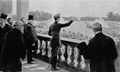 Alfonso XIII en Versalles