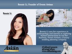 Bonnie Li, Founder of Events Artisan #CallumConnects #entrepreneur