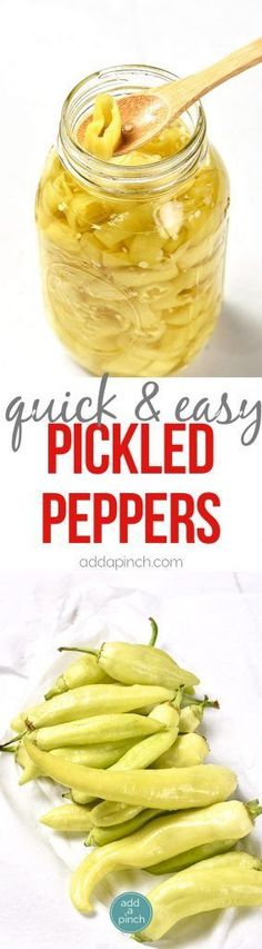 Easy Pickled Peppers Recipe - These Pickled Peppers Make A Quick And Easy Way To Preserve Your Banana, Jalapeno And Other Kinds Of Peppers Perfect For Using Throughout The Year In Dishes Like Pizzas, Soups, Salads, Sandwiches And So Many Recipes With Banana Peppers, Sweet Banana Peppers, Pickled Banana Peppers, Stuffed Banana Peppers, Banana Pepper Recipes, Easy Pickled Peppers Recipe, Spicy Pickled Eggs, Pepperocini Recipes, Canning Peppers