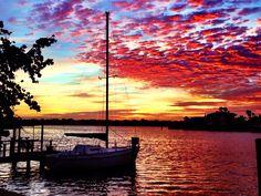 Sailboat sunrise - dawn