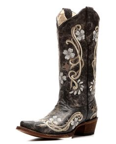 Corral | Women's Circle G by Corral Cowhide Snip Toe Boot with Embroidery | Country Outfitter