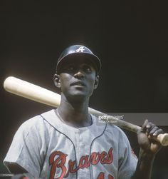 Rico Carty #7 of the Atlanta Braves looks on during an Major League Baseball game circa 1966. Carty played for the Braves from 1963-72.