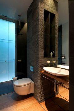 office suite space saving small modern home decor, impressive space saving bathroom, innovative space saving kitchen, imaginative space saving bedroom Bathroom Interior, Modern Bathroom, Small Bathroom, Bathroom Faucets, Master Bathroom, Home Renovation, Home Remodeling, Space Saving Bathroom, False Wall