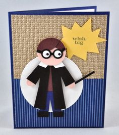 A harry potter punch art card harry potter birthday cards, harry Kids Birthday Cards, Birthday Crafts, Handmade Birthday Cards, Art Birthday, Happy Birthday, Carte Harry Potter, Harry Potter Cards, Boy Cards, Kids Cards