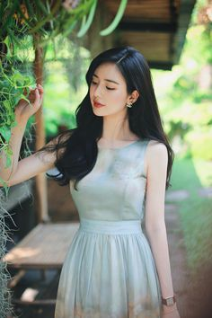 daily 2018 feminine & classy look Korean Fashion Dress, Asian Fashion, Fashion Dresses, Korean Beauty, Asian Beauty, Korea Dress, How To Look Classy, Ulzzang Girl, Girl Photo Poses