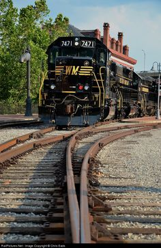Cumberland, MD 7/9/2012 - Like a scene from the 1960s, authentically restored Western Maryland SD-40 7471 and sister SD-35 7436 have the Wes...