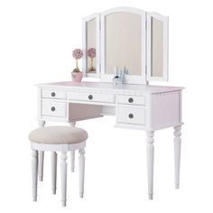 I pinned this St. Croix Vanity with Stool from the Cottage Getaway event at Joss and Main!