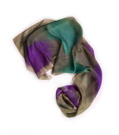 Your place to buy and sell all things handmade Painted Silk, Hand Painted, Purple Teal, Green Silk, Military Green, Pistachio, I Shop, Whimsical, Mood