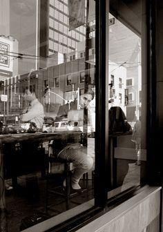 Cafe sitting, San Francisco, California. ©2012 David W. Sumner