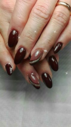 77 Trendy Brown Nail Art Designs and Ideas – Nails art Brown Nail Art, Brown Nails, Dark Nails, Brown Art, Winter Nail Designs, Gel Nail Designs, Nails Design, Nagellack Design, Special Nails