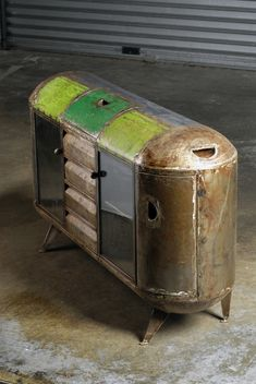 "Studio Hamed Ouattara |""Bar Gongosso""| upcycled oil barrels | http://studiohamedouattara.com"