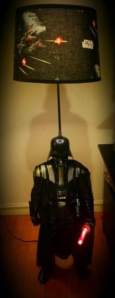 """Star Wars Darth Vader 50"""" Floor Lamp, Lampshade w/ 9"""" Lightsaber on ebay $199"""