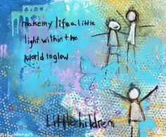 """A Little Light painting by 6-year-old """"Boo"""" Hackshaw via lilblueboo.com (bid for a cause)"""