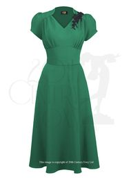 40s Victory Swing Dress Jade