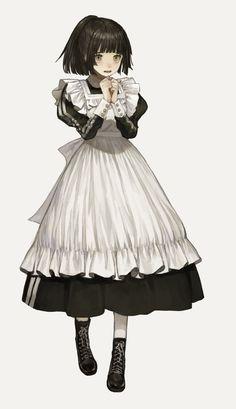 Reborn To Change Chica Anime Manga, Manga Girl, Kawaii Anime Girl, Anime Art Girl, Character Concept, Character Art, Anime Maid, Poses References, Maid Outfit