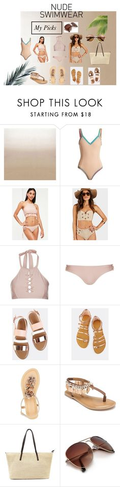 """""""My Nude Swimwear Set😃💛"""" by shekb ❤ liked on Polyvore featuring Designers Guild, kiini, Missguided, Topshop, Whistle & Wolf, Wild Diva and Penny Loves Kenny"""