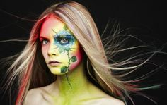 Photographer Rankin Teams Up With Makeup Artist Ayami Nishimura For Beauty Book And Photography Exhibition Art Beat, Damien Hirst, Cara Delevingne, John Rankin, Flower Makeup, Flower Hair, Beauty Book, Portraits, Portrait Ideas