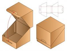 Diseño de plantilla troquelada caja de embalaje | Vector Premium