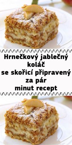 Hrnečkový jablečný koláč se skořicí připravený za pár minut recept Healthy Dessert Recipes, Sweet Desserts, Sweet Recipes, Baking Recipes, Cake Recipes, Slovak Recipes, Czech Recipes, Slovakian Food, Sweet Cooking