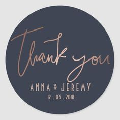 Thank you Rose Gold and Navy Blue Wedding Sticker Anemone Wedding, Lilac Wedding, Wedding Colors, Wedding Bouquets, Wedding Dresses, Wedding Labels, Unique Wedding Favors, Wedding Ideas, Wedding Gifts