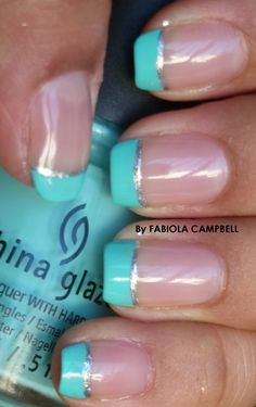 Calypso French nail design - By Fabiola Campbell (Chile)