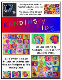 Kandinsky_Kids Kandinsky For Kids, Kandinsky Art, Kindergarten Art Lessons, Collaborative Art, Arts Ed, Baby Art, Elements Of Art, Elementary Art, Art Education