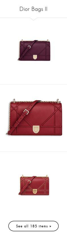 """Dior Bags II"" by sakuragirl ❤ liked on Polyvore featuring bags, vender, purple bag, graine, handbags, handbag's, calfskin handbags, red handbags, man bag and red hand bags"