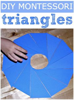 Free template for Montessori blue scalene triangles.