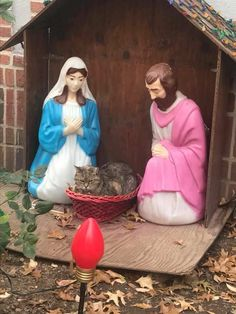 Baby Jesus is fuzzier than I expected...