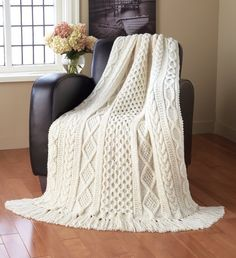 <p>Our 2nd place winner! Designed by Emily Armstrong. A wonderful combination of cable patterns. This kit includes Aran Irish Tweed yarn. Shown in Aran Irish Twist.</p>