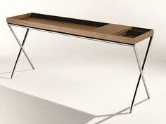 Walnut console table NOVEL by Lema | design Christophe Pillet