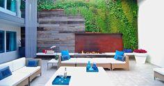 enclosed garden at Hotel Seven4one, Laguna Beach, 2013