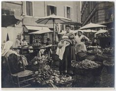 Campo de' Fiori Piazza Navona, Old Photos, Rome, Italy, Instagram Posts, Painting, Epoch, Vintage, Bar