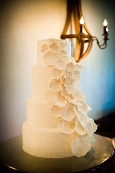 This cake is absolutely beautiful! Place it upon a wine barrel for the perfect vineyard touch! {Wente Vineyards}